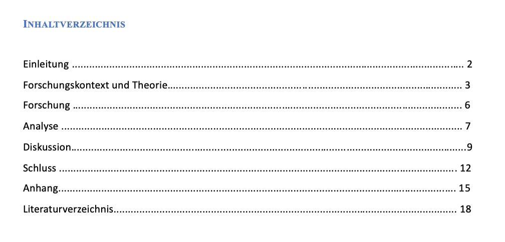 Dein Inhaltsverzeichnis Hausarbeit Erstellen Mit Vorlage 3